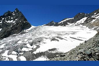 Le Glacier Blanc dans les Alpes