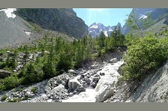 Descente du Glacier Blanc, retour au Pré de mme Carle