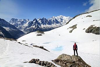 Lac Blanc dans le massif des aiguilles Rouges