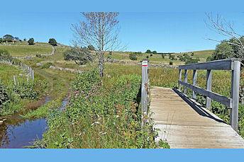 Pont en bois sous Aubrac, GR6