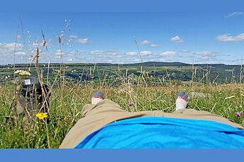 Pause déjeuner et sieste au-dessus de St Chély