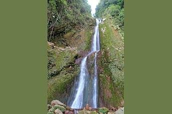 La cascade du Galion sur toute sa hauteur