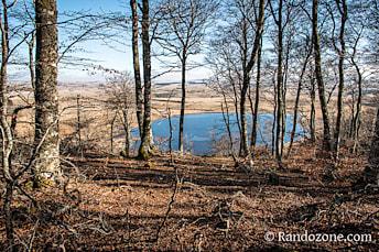 Point de vue sur le lac des Salhiens