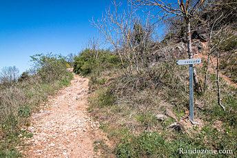 Panneau indiquant le début de la randonnée