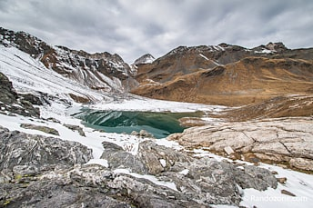 Au dessus du lac Blanc de Péclet-Polset