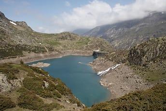 Barrage et lac des Gloriettes