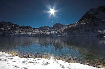 Soleil sur le lac dets Coubous
