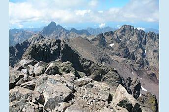 Paglia Orba et Punta Minuta depuis le Monte Cinto