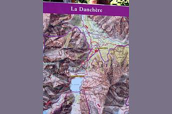 Carte du Massif des Ecrins La Danchère pour arriver au Lac du Lauvitel