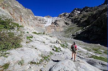 Le pied du Glacier Blanc dans le massif des Ecrins