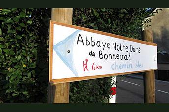 Chemin bleu de l'Abbaye Notre Dame de Bonneval