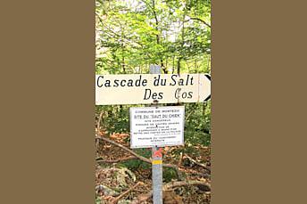 Cascade du Salt des Cos (du saut du chien) en langue traditionnelle Aveyronnaise