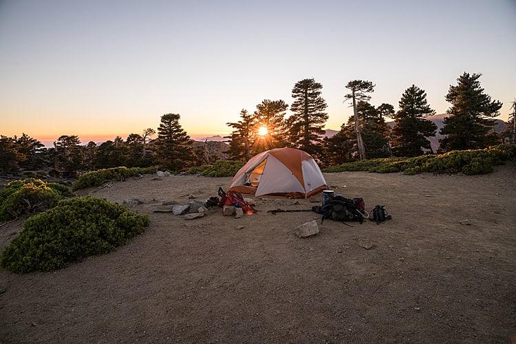 Bivouac sous la tente