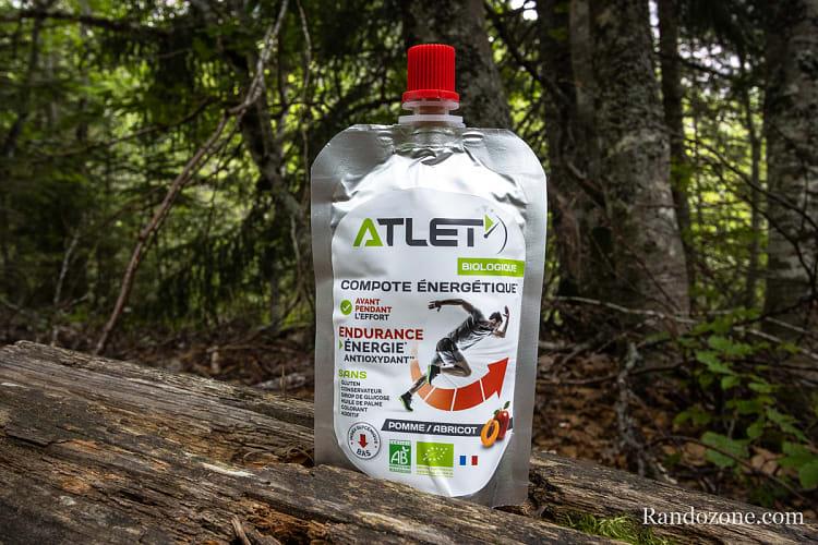 Test et avis : Nutrition Atlet Compote énergétique bio..