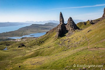 Au niveau du Old Man of Storr