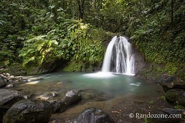 Cascade aux Ecrevisses en Guadeloupe
