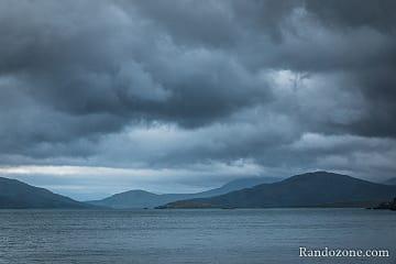 Ciel menaçant sur l'île de Skye