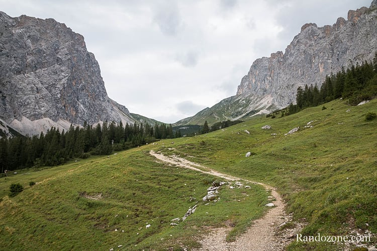 Randonnée au Gehrenspitze : vue sur le col