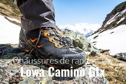 Actualité : Test des chaussures de randonnée Lowa Camino Gtx