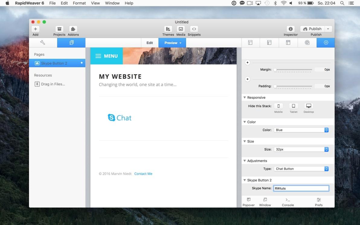 Skype Button 2 screenshot