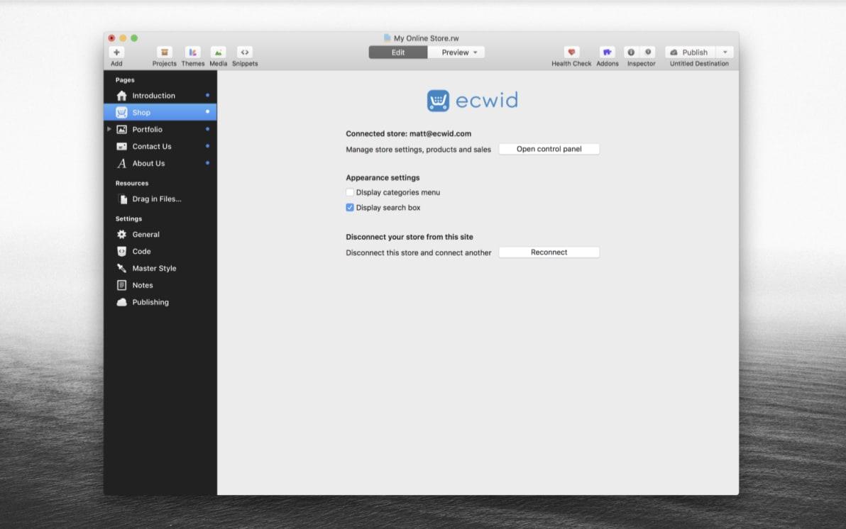 Ecwid Online Store screenshot