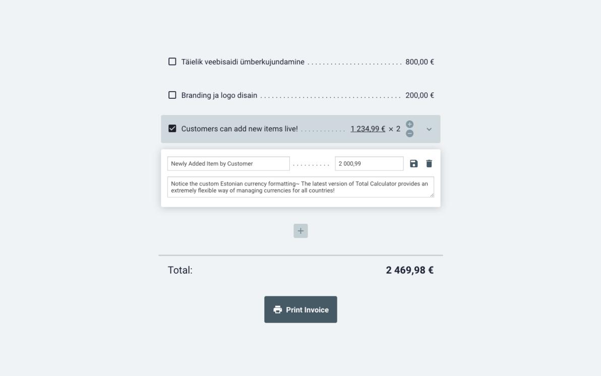 Total Calculator screenshot