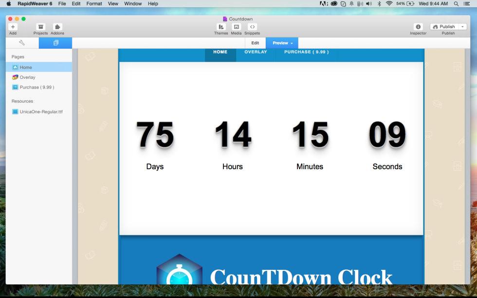 Countdown Clock screenshot