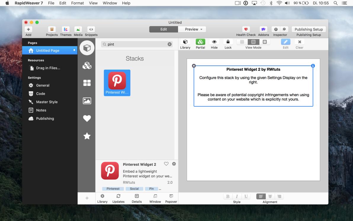Pinterest Widget 2 screenshot