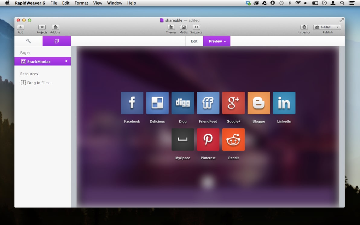 SocialPopup screenshot