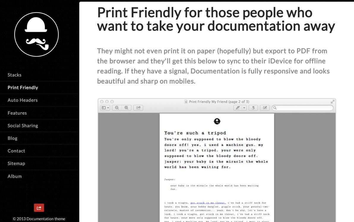 Documentation screenshot