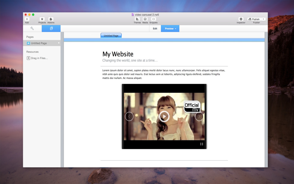 Video Carousel screenshot