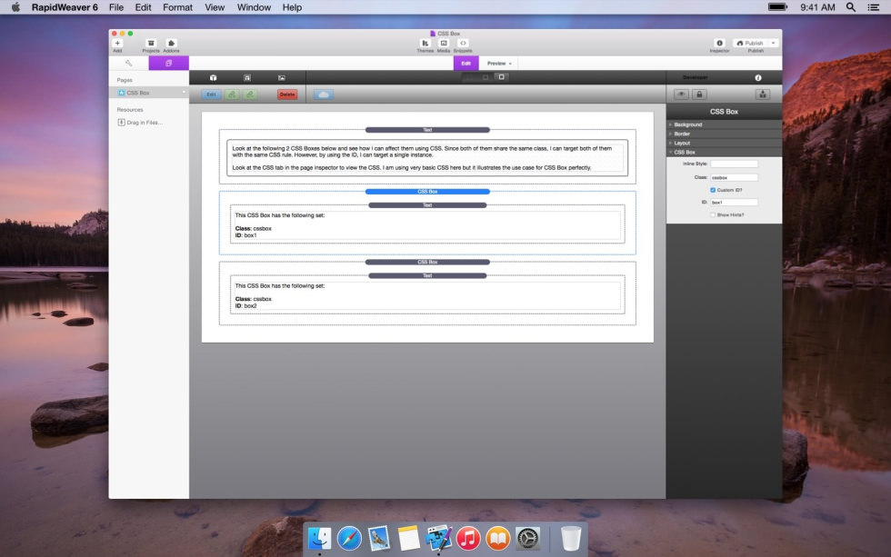 CSS Box screenshot