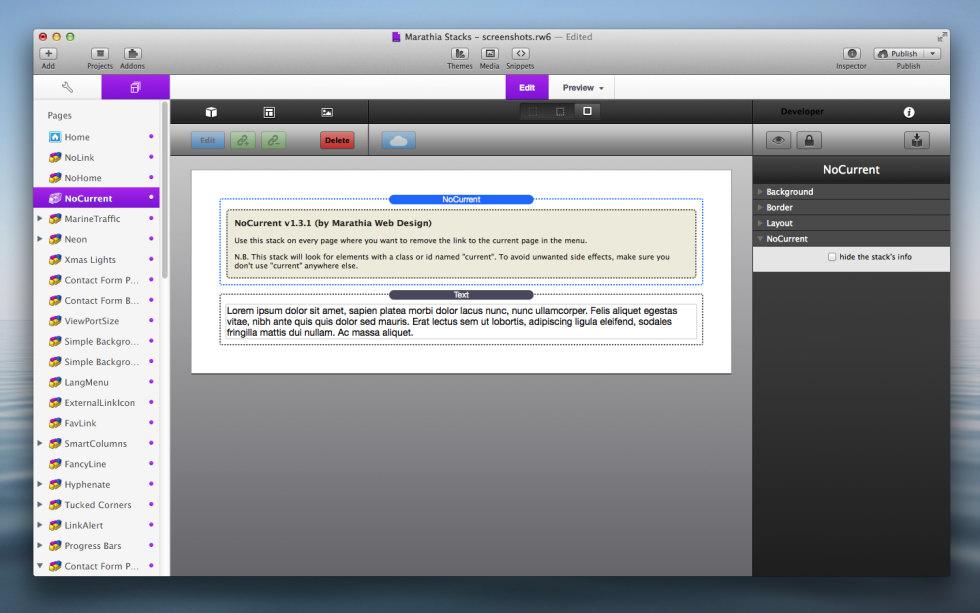NoCurrent Stack screenshot