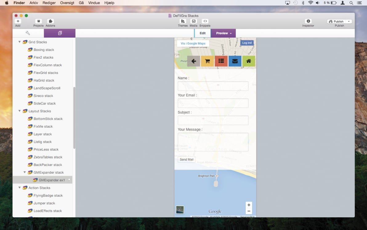 GoogleMap Expander Stack screenshot