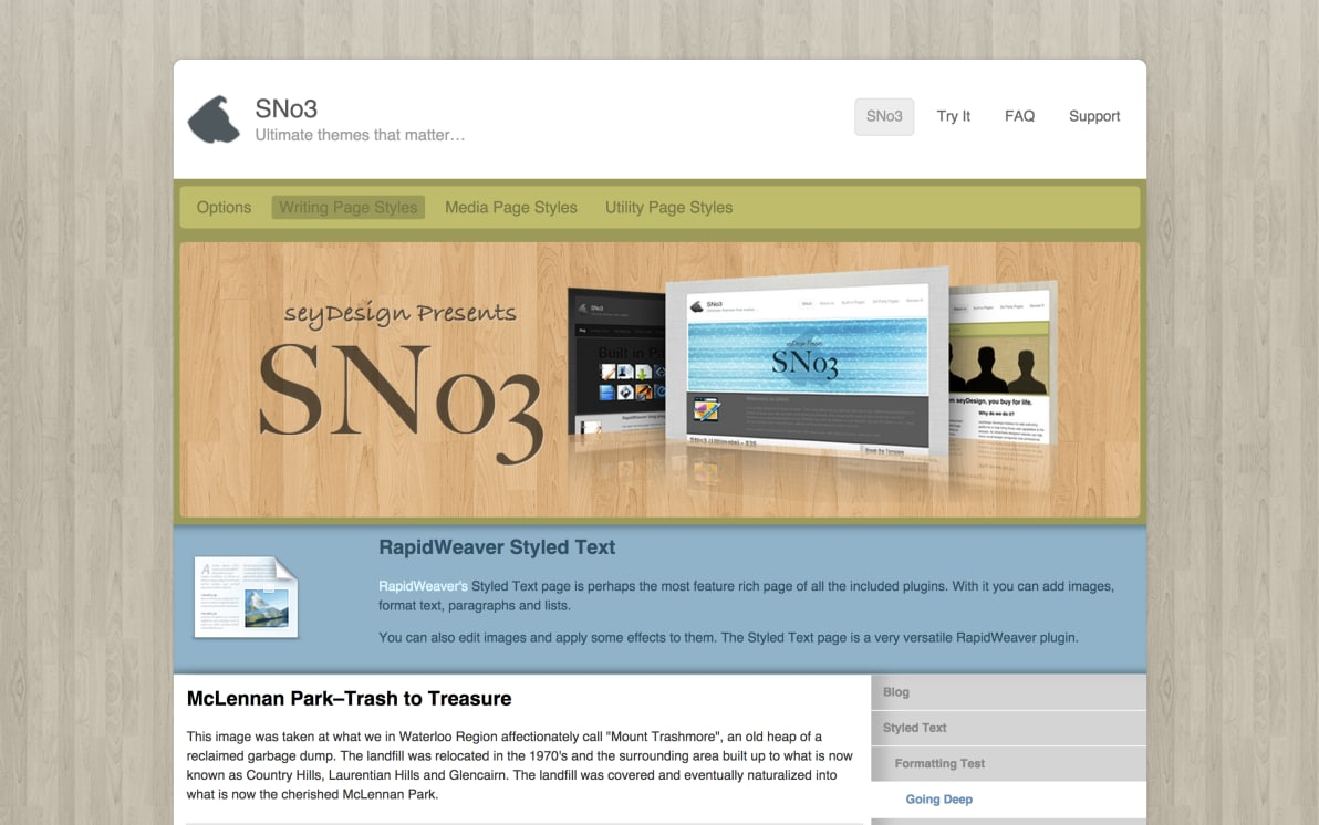 seyDesign SNo3 screenshot