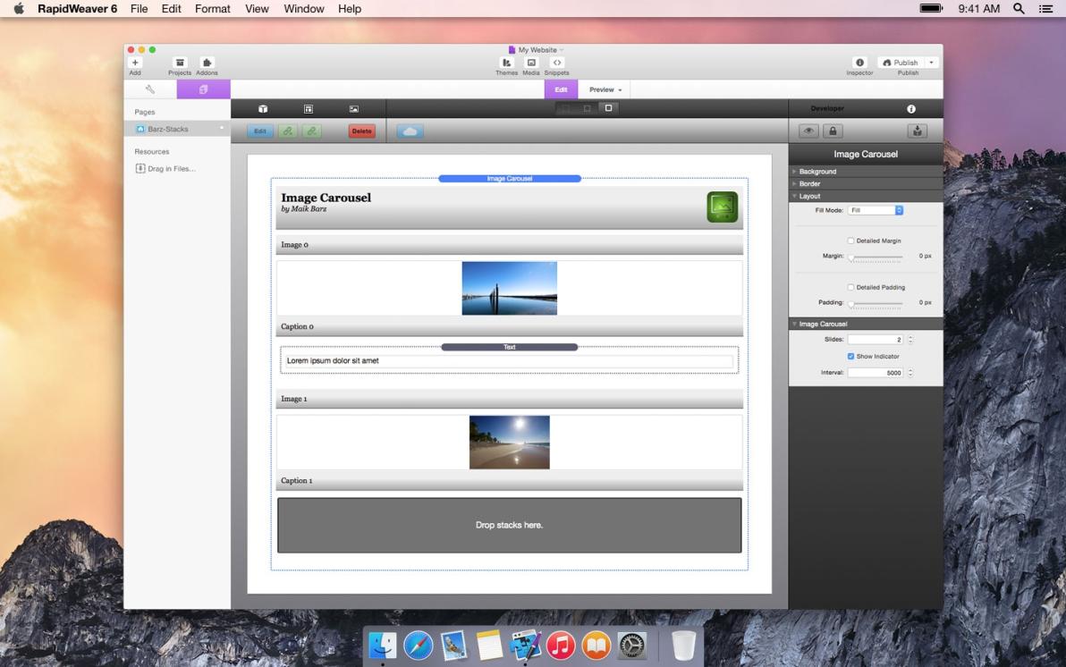 Image Carousel screenshot
