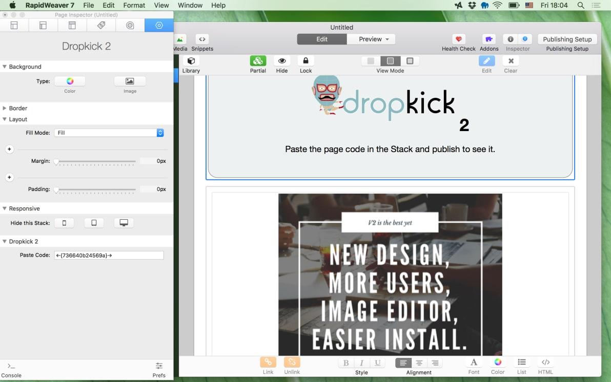 Dropkick CMS 2 screenshot