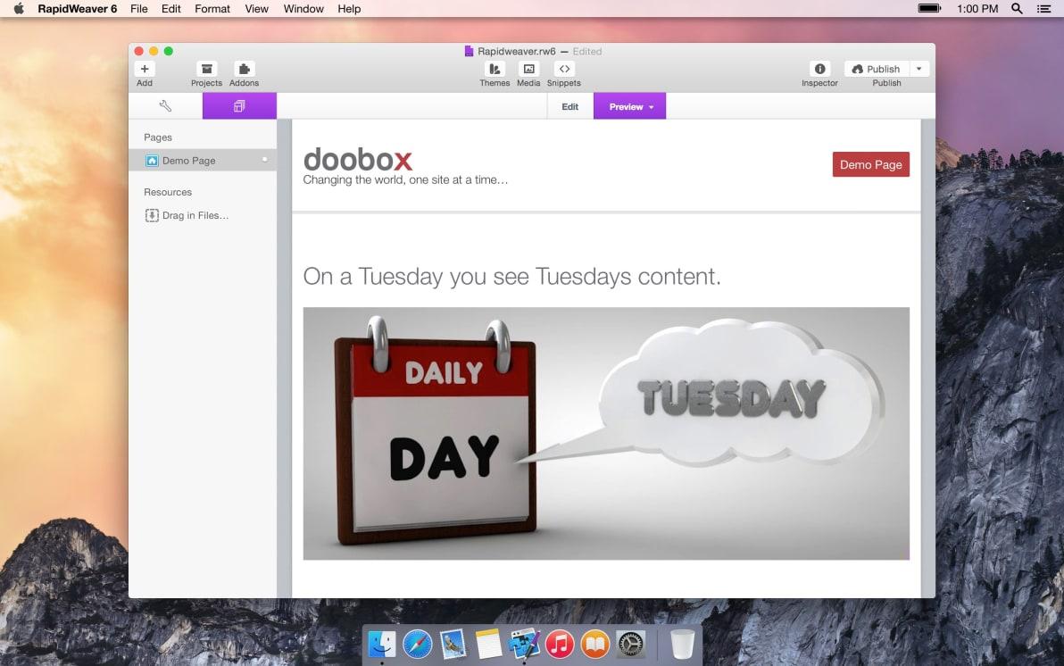 Daily screenshot