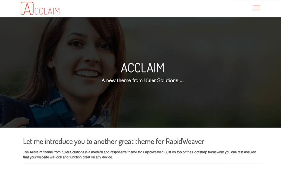 Acclaim screenshot