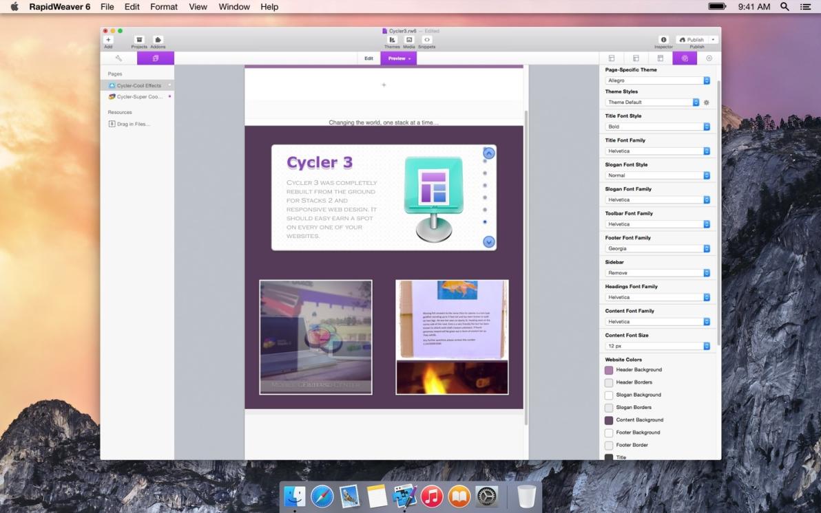 Cycler screenshot