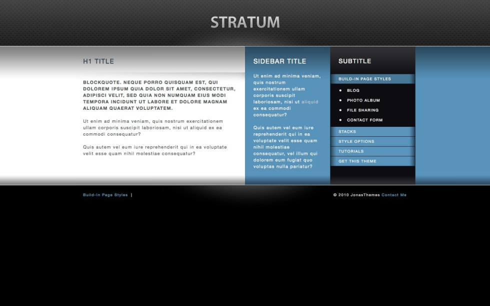 Stratum screenshot