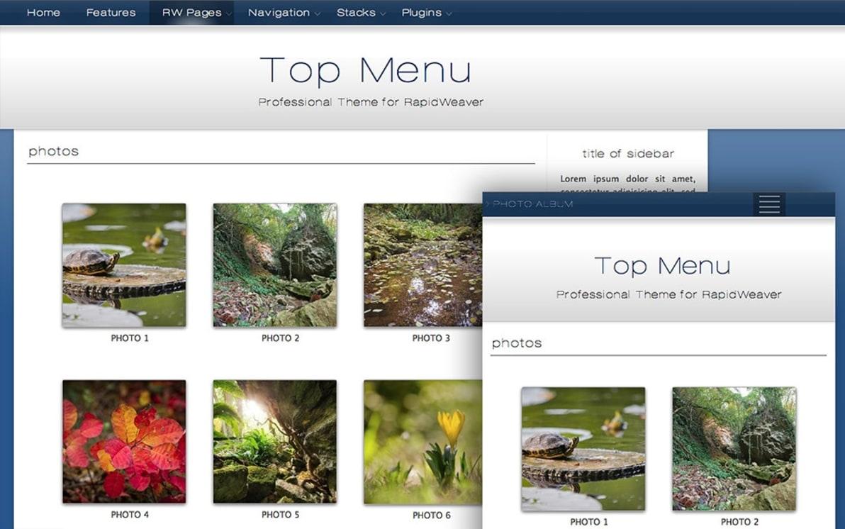 Top Menu screenshot