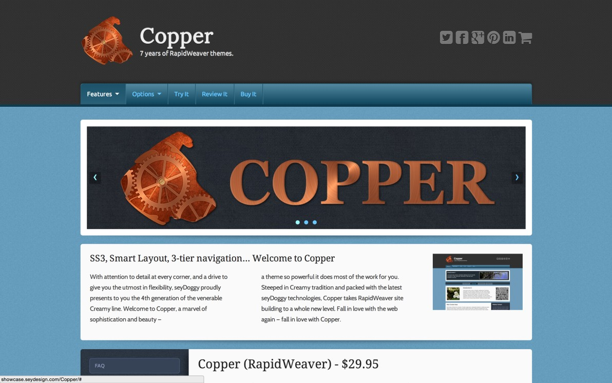 seyDesign Copper screenshot