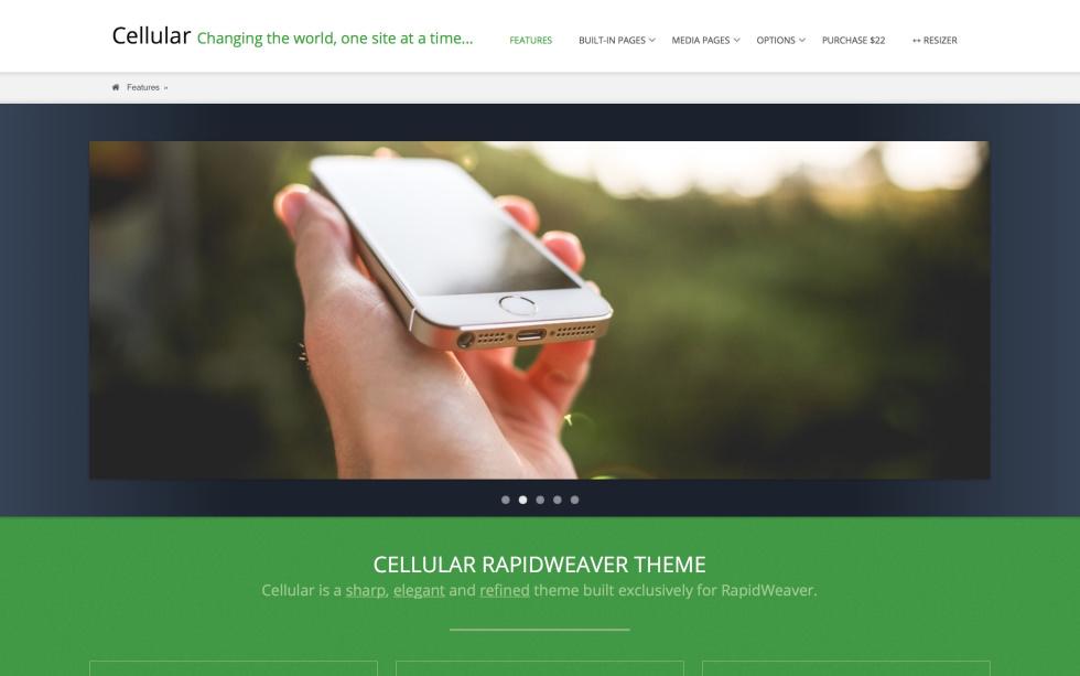 Cellular screenshot