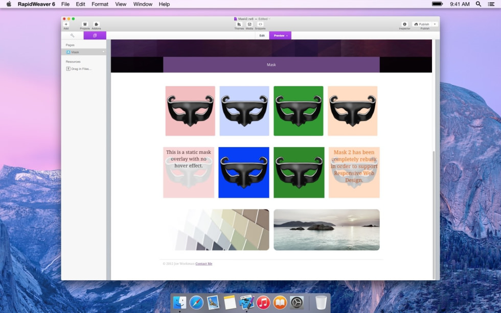 Mask screenshot