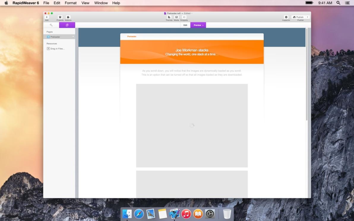 Preloader screenshot