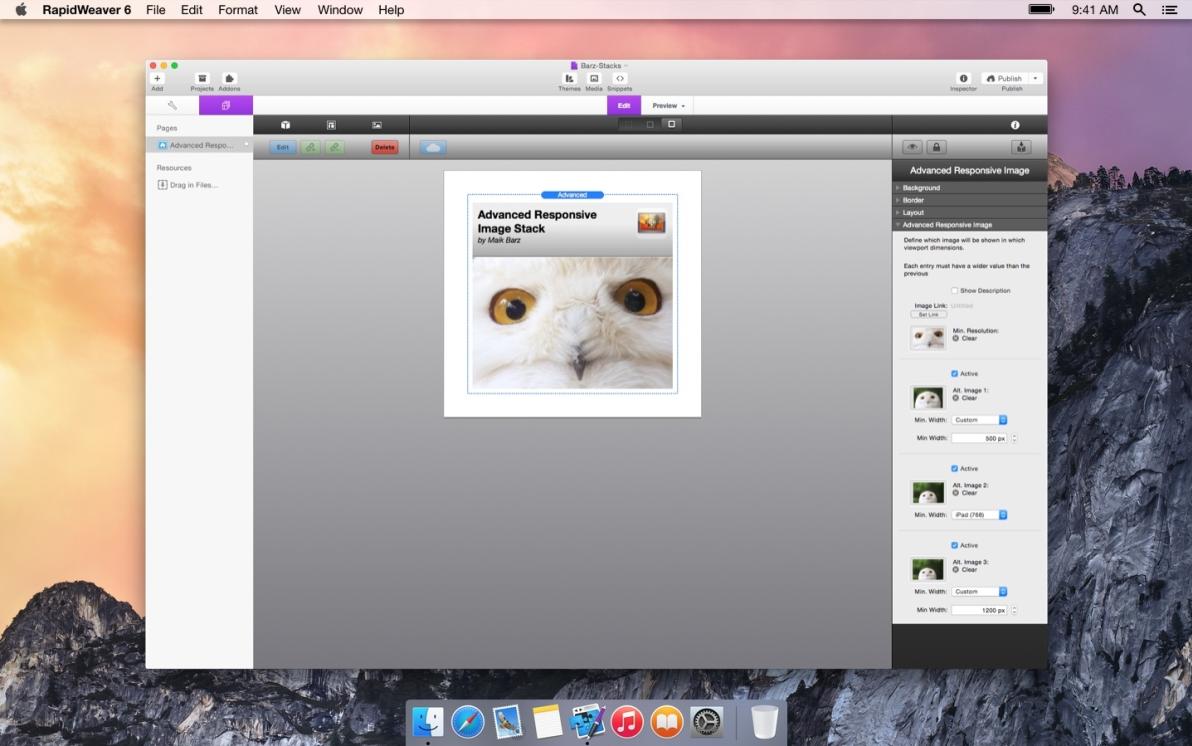 Advanced Responsive Image screenshot