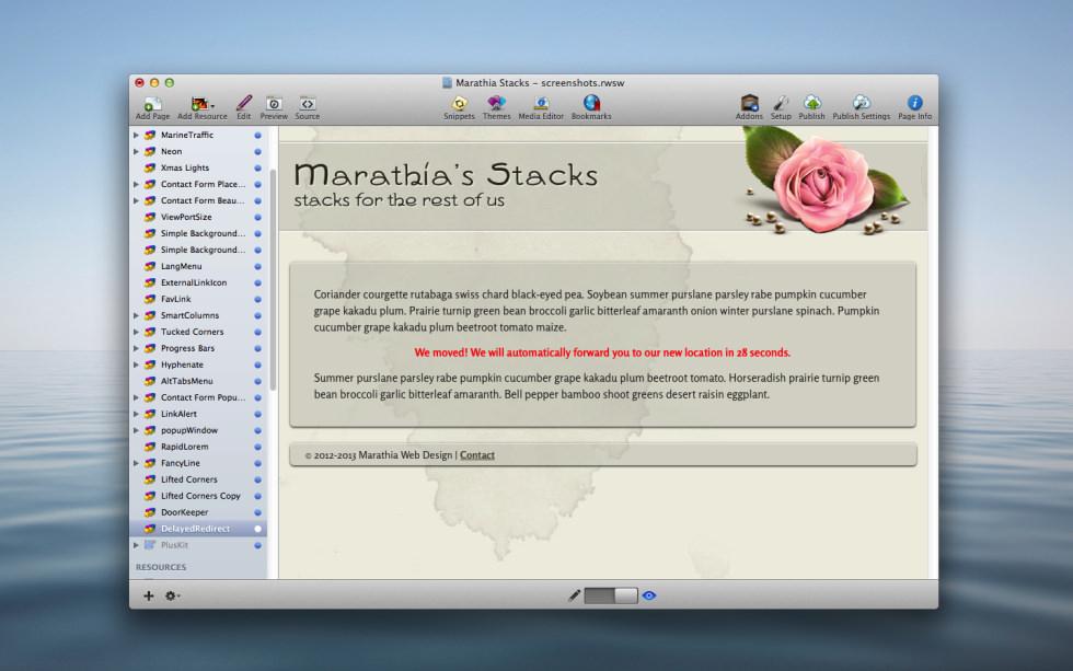 Delayed Redirect Stack screenshot