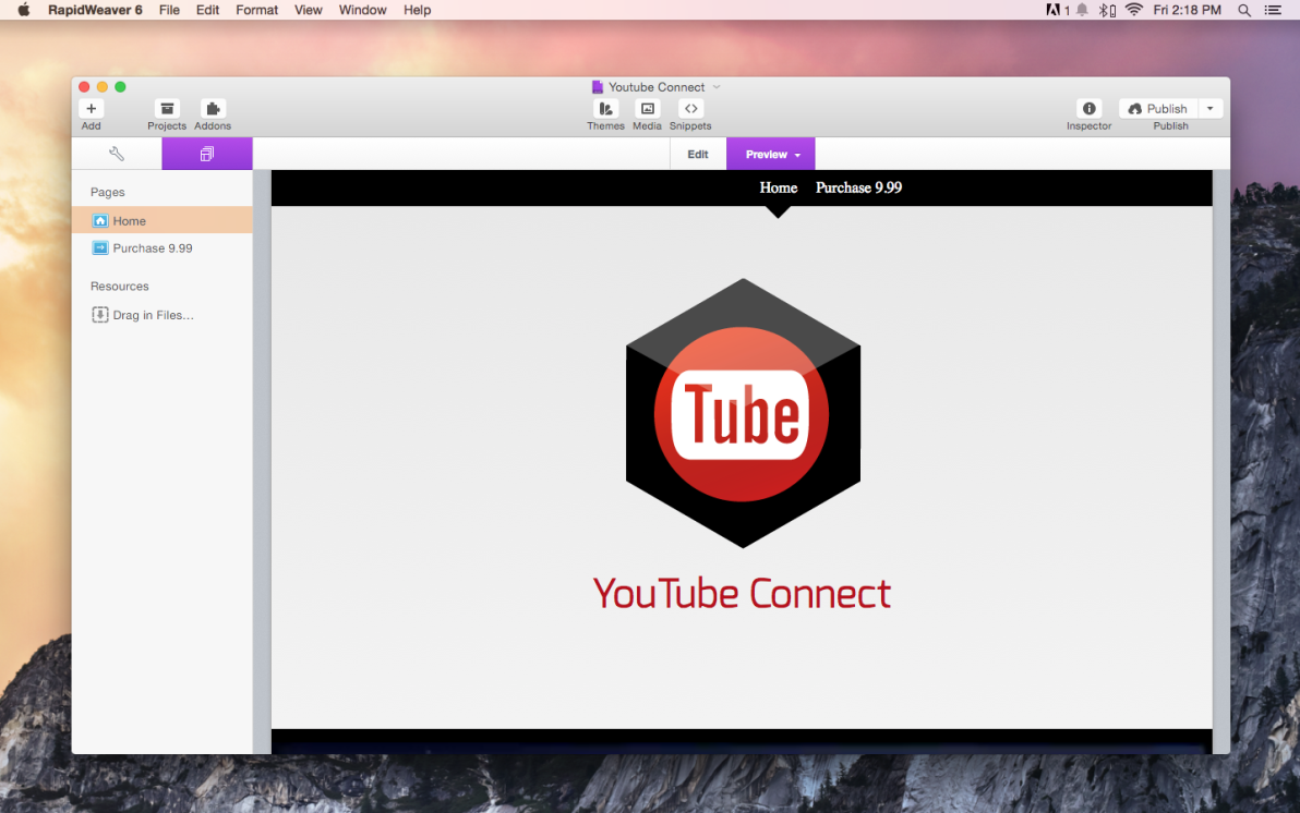 Youtube Connect screenshot