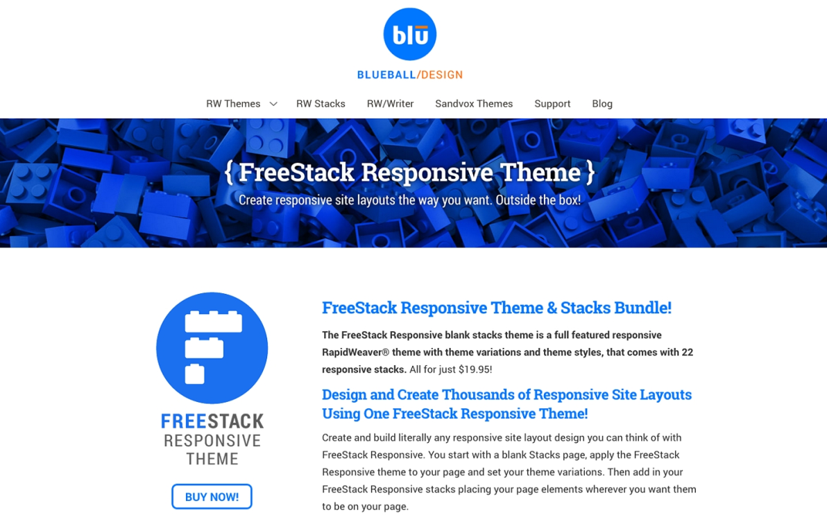 FreeStack Responsive screenshot